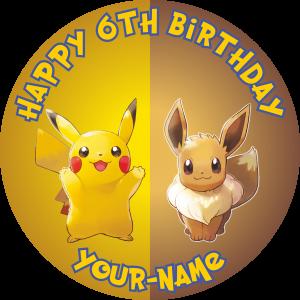 Pokemon Pikachu and Evee